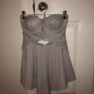 Grey romper/dress